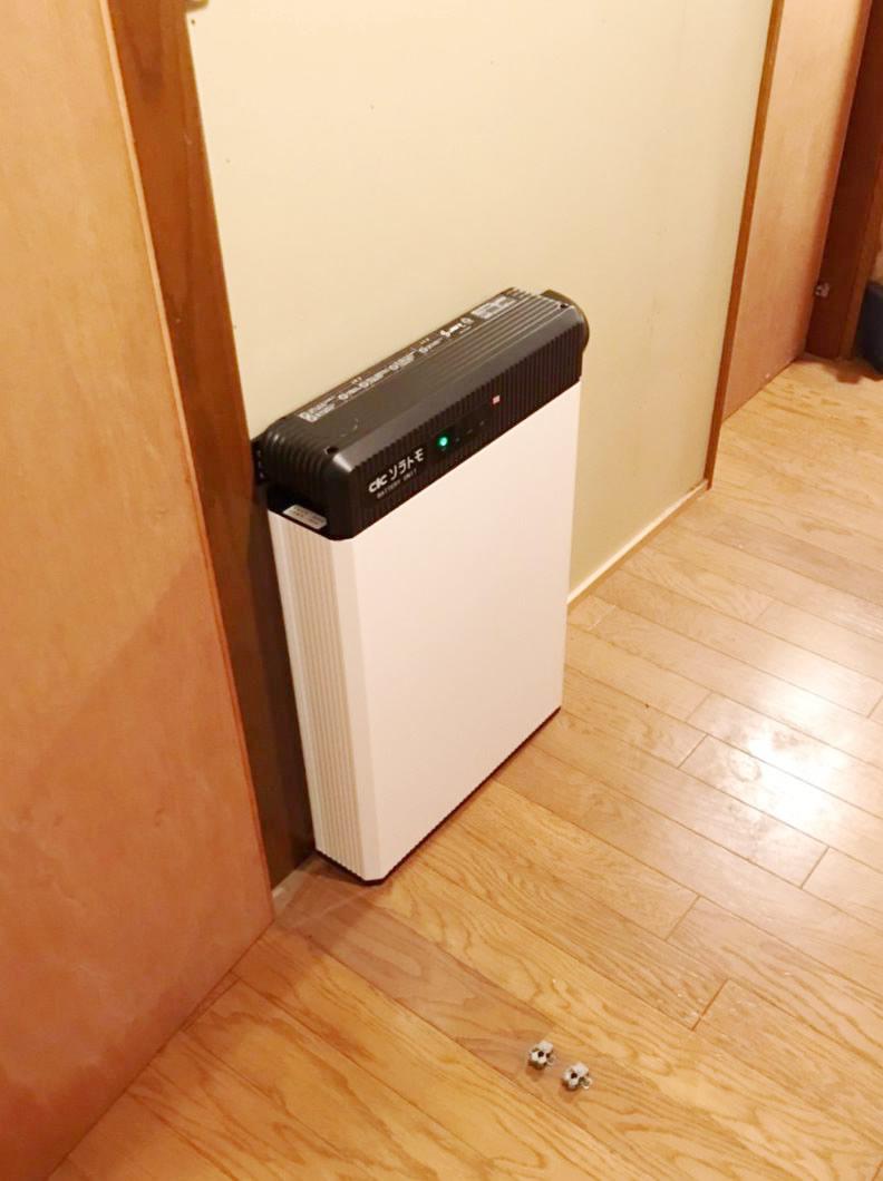 蓄電池システムを富士市・K様宅に導入しました