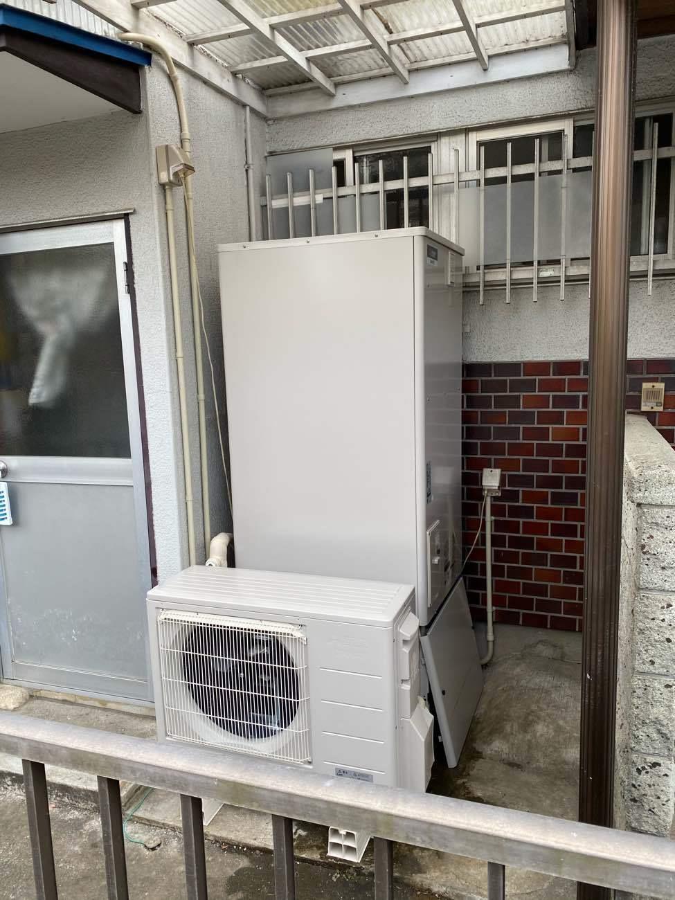 エコキュートを富士宮市・H様宅に設置